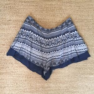 Free People Aztec Print Flowy Shorts